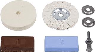Wolfcraft 2178000 hobbyputssats för polering av metaller/plast/marmor