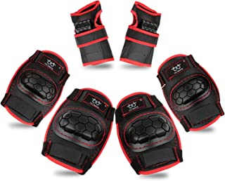 Kids Knee Pads and Elbow Pads with Wrist Guards Protective Gear Set for Skating Rollerblading Skateboard BMX Scooter Cycling