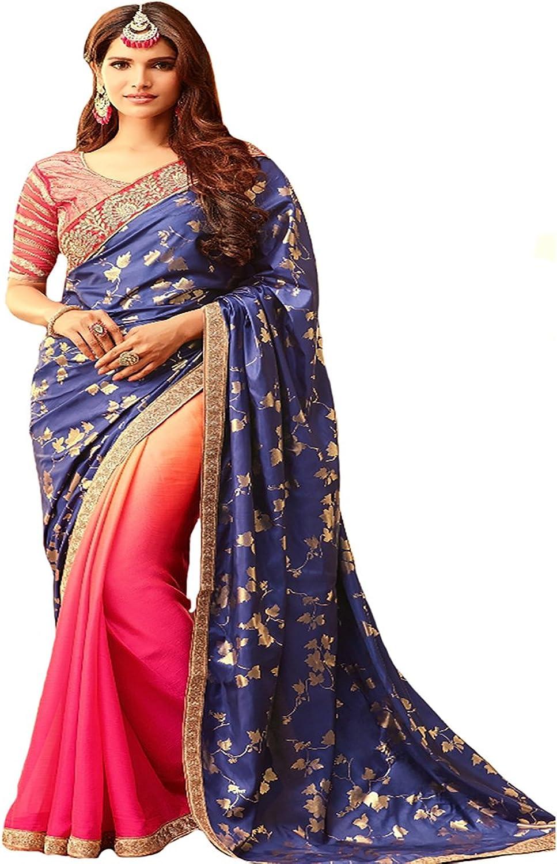 Bollywood Bridal Party Wear Collection Saree Sari Wedding Ceremony 8770