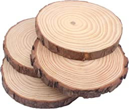 Natural Pine Wood Slabs Untreated 5-6 inches Diameter x 3/5