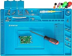Spurtar 7mm anti-statische soldeermat station 500℃ hittebestendige magnetische multifunctionele DIY reparatie siliconen we...