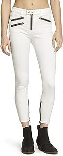 rag & bone White High Rise Biker Jeans