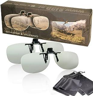 Schleiter & Jauernig SJ-CV1Set - Juego de gafas 3D pasivas, clip para gafas, 2 gafas 3D con clip version 1, accesorio para gafas de gafas, polarizado circular, para RealD 3D Kino y TV, 200 g