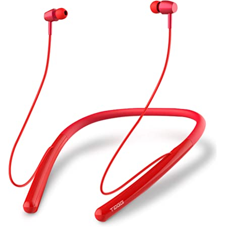 TAGG BassBuds Wireless Bluetooth in Ear Neckband Earphone with Mic (Red)