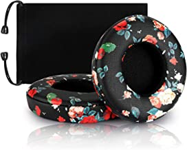 Headphones Replacement Earpad,Cypher.V Ear Cushion Pads Compatible with Solo 2.0 3.0 Wireless On Ear Headphpnes 1 Pair (Black Floral)