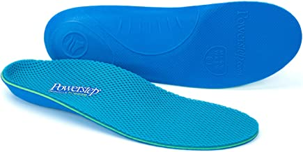 Arch Support Shoe Orthotic Inserts for Women and Men by Powerstep, Pinnacle Breeze Shock Absorbing Ventilated Shoe Insoles, Relieves Plantar Facsiitis, Foot, Heel and Knee Pain, Great for Running