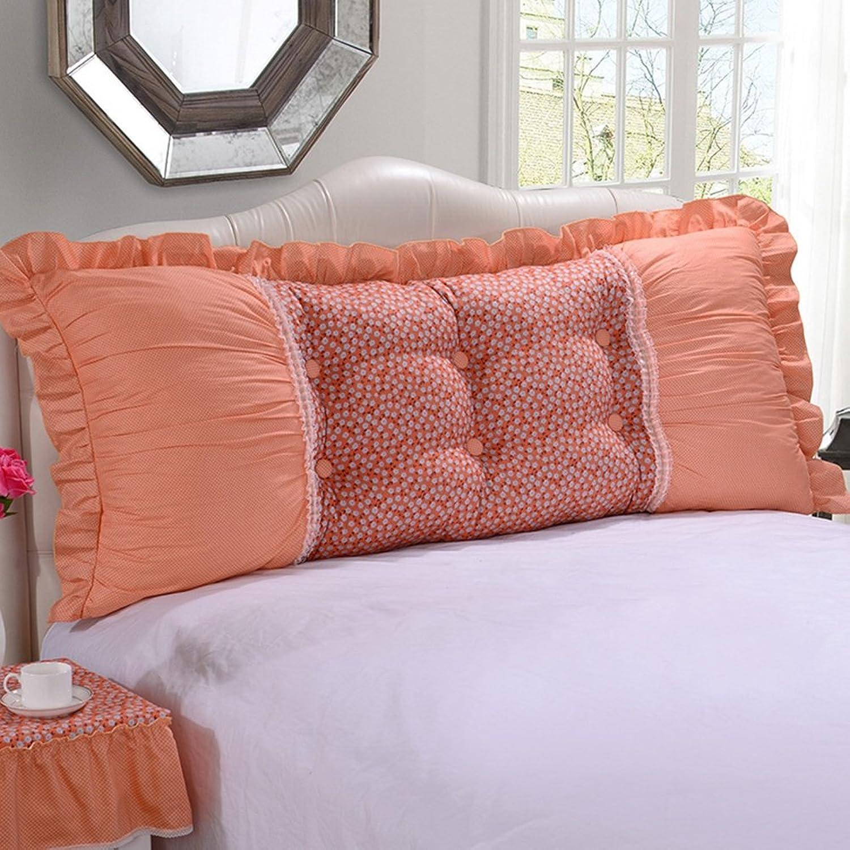 NYDZDM Tête de lit coussins de coussin tissu Art housse de lit Soft Case canapé grand coussin arrière lavable multifonction, 9 couleurs, 5 tailles (Couleur   9, Taille   100 × 55cm)