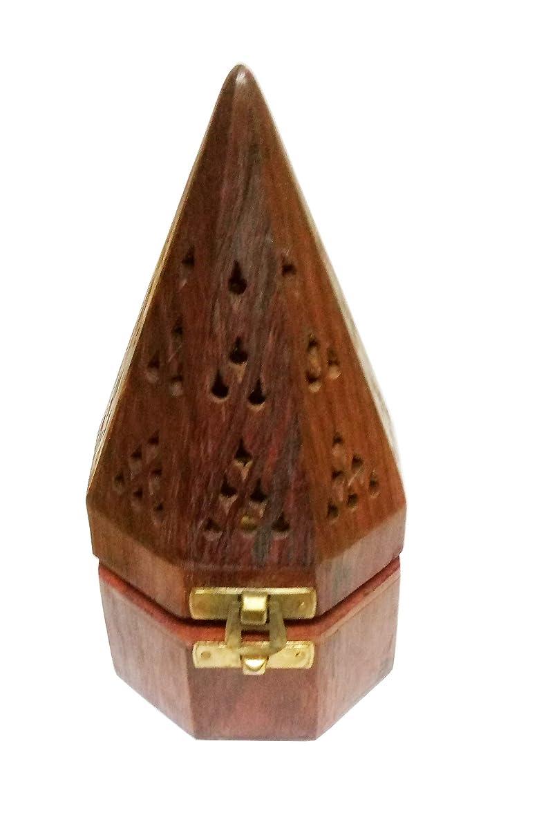 祝福取り囲む抱擁Sahishnu オンライン&マーケティング 木製テンプルスタイル フープホルダー お香ホルダー