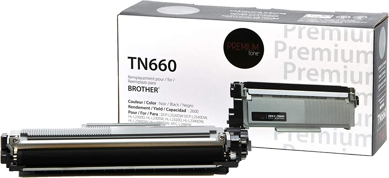 Premium Tone Replacement for Brother TN-660 TN660 for DCP-L2520DW DCP-L2540DW HL-L2300D HL-L2305W HL-L2320D HL-L2340DW HL-L2360DW HL-L2380DW