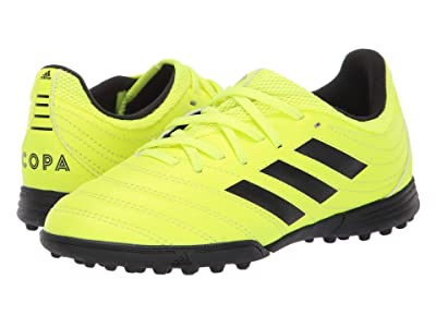 adidas Kids Copa 19.3 TF Soccer (Little Kid/Big Kid) (Solar Yellow/Black) Kids Shoes