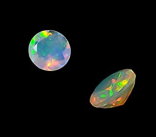Natural Ethiopian Opal AAA Quality 4 mm Faceted Round 2 pieces Loose Gemstone From Dashrath International