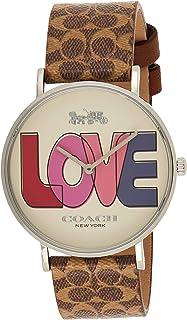Coach Womens Quartz Wrist Watch, Brown Leather - 14503570