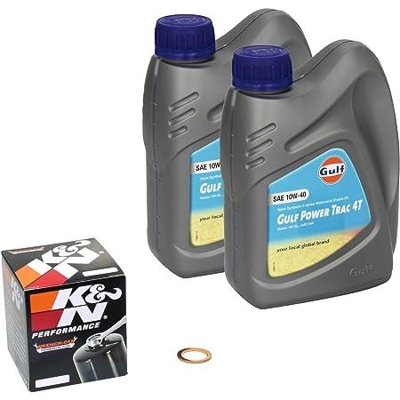 Gulf Power Trac 10w 40 Ölwechsel Set Suzuki Intruder 600 Vs 600 Gl Bj 95 97 Motoröl K N Ölfilter Und Dichtring Auto