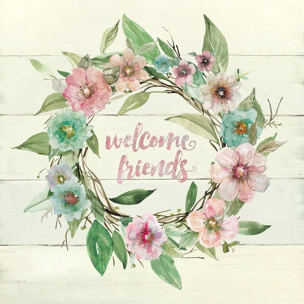Posterazzi Collection Welcome Wreath Poster Print by Fashion Fresno Mall Robin Carol