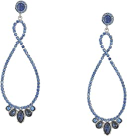 Stone Loop Drop Earrings Sapphire