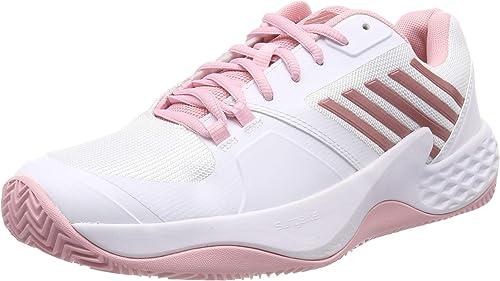 K-Swiss Perforhommece Aero Court HB Chaussures de Tennis Femme, Blanc (blanc Coral bleush Metallic Rose 136M) 37.5 EU