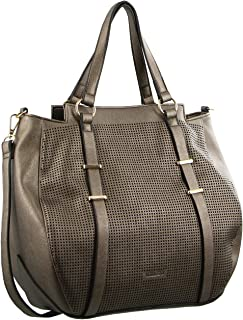 Milleni Tote Handbag with Perforated Detail (NC2683)