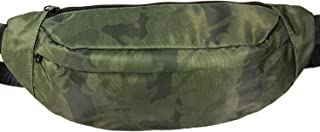 Fanny Pack for Men and Women,Fashion Waist Pack Belt Bags with Adjustable Strap for Running Traveling Hiking (Green)