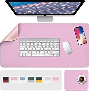 "Pink Mouse Pad, Desk Pads, Desk Mat, XL Desk Pads Dual-Sided Purple/Pink, 31.5"" x 15.7"" + 8""x11"" PU Leather Mouse Pad 2 Pa..."