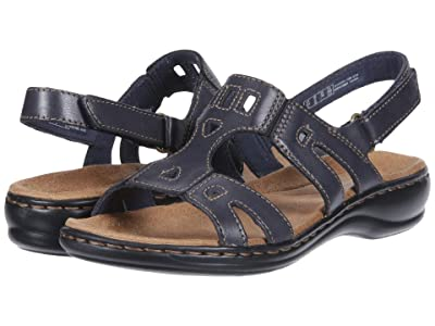 Clarks Leisa Annual (Navy Leather) Women