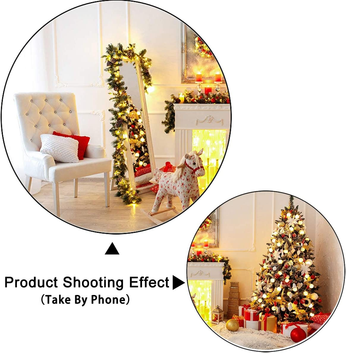 10x10ft,chy650 TCReal Christmas Tree Background Banner Photography Studio Birthday Family Party Christmas Holiday Celebration Photography Backdrop Cute Home Decoration