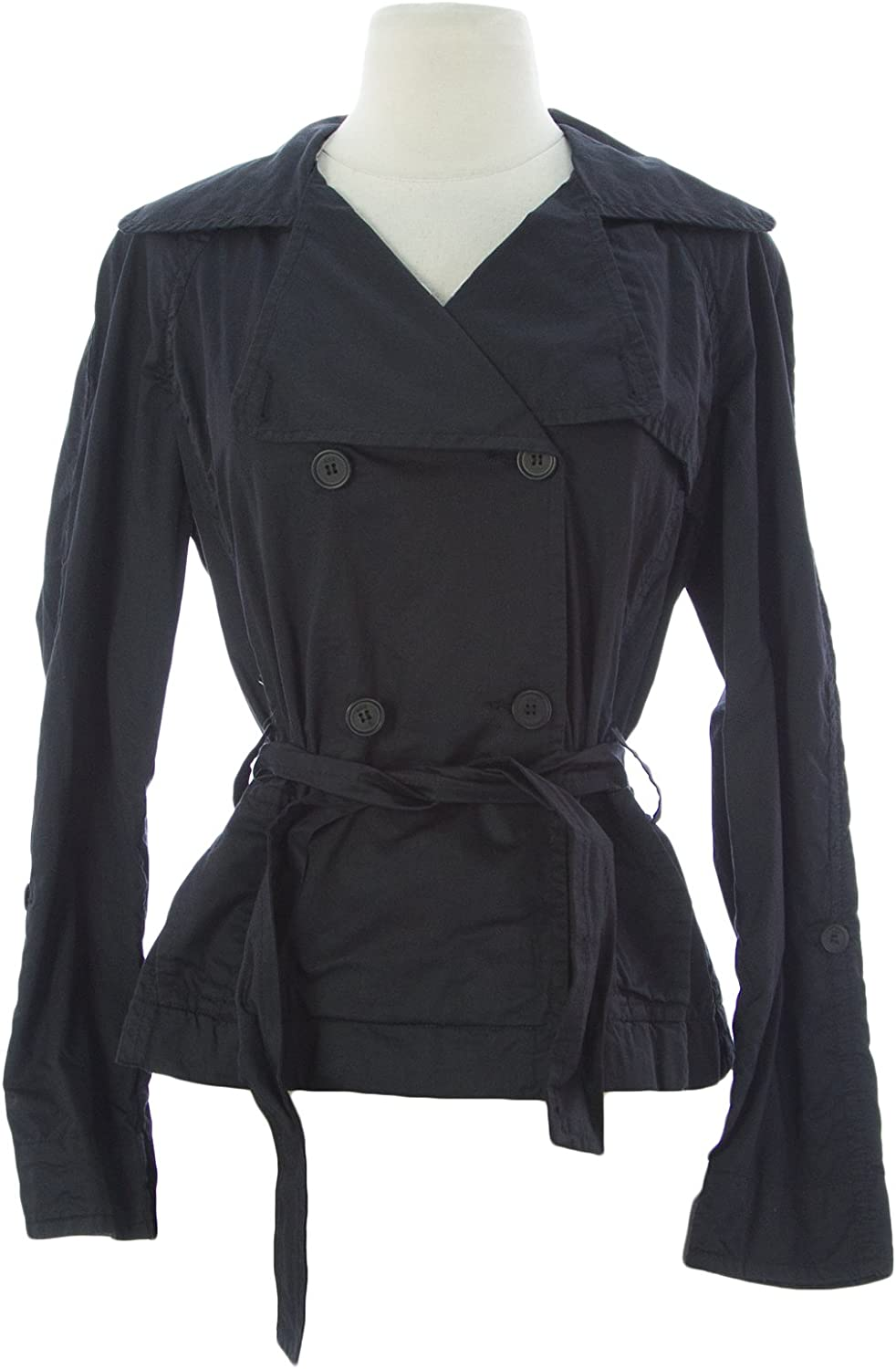 ADD Women's Belted Double Breasted Jacket Black