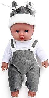 IVITA Cuerpo Completo de Silicona Muñeca Muñeca Recién Nacida Realista Mellizos Muñeca Viva Muñeca Hecha a Mano Realista Ojos Azules Muñeca Niño y Niña (WB1505-30cm-1207g-Junge)