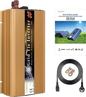 MARS ROCK 1300W On Grid Micro Solar Inverter Converter, 20-50VDC to 190-260VAC MPPT Pure Sine Wave Inverter for 30V, 36V S...