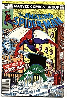 AMAZING SPIDER-MAN #212 1st HYDRO MAN comic book 1981 MARVEL VF