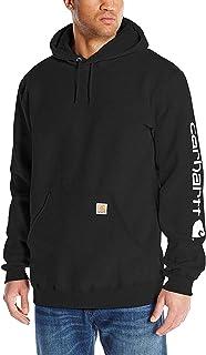 Men's Logo Hooded Work Sweatshirt Big and Tall Black...