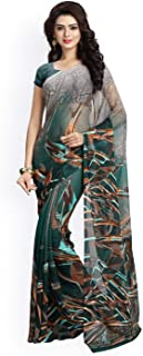 Vaamsi Polygeorgette Saree with blouse piece (Raga3102_ Multicoloured_ One Size)