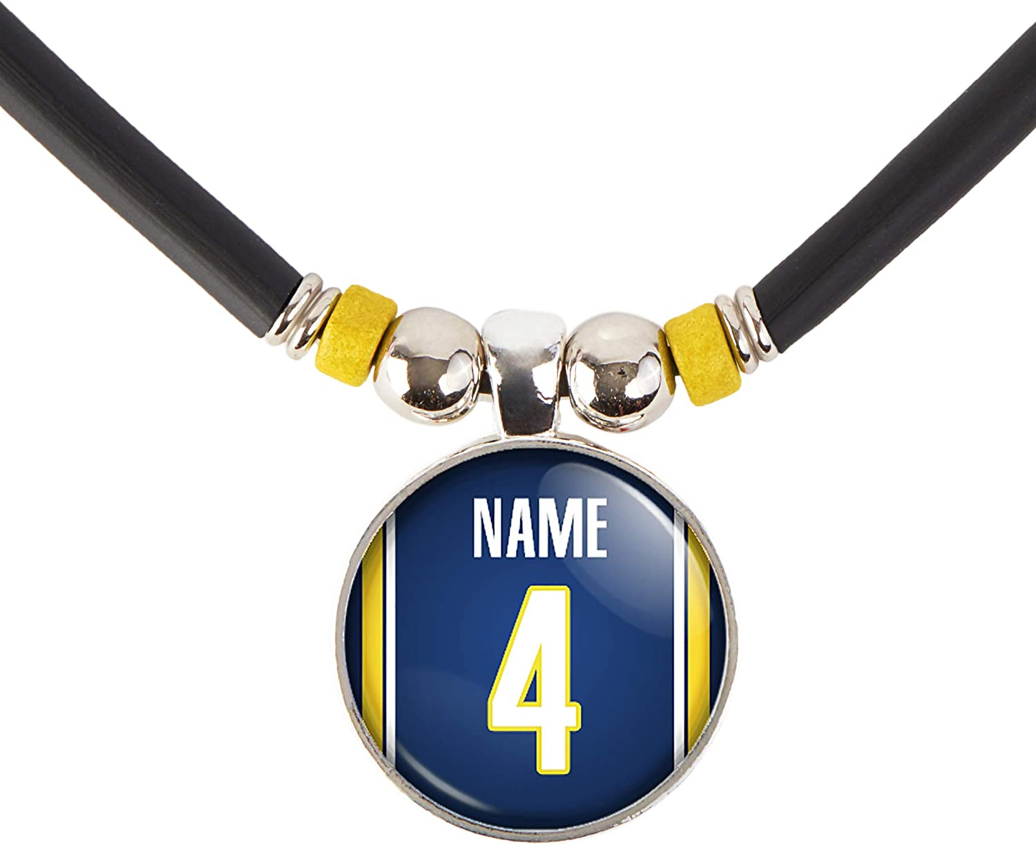 Indiana Basketball Jersey Necklace Personalized with Name and Number, PERSONALIZE BY EMAIL