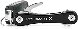 KeySmart Rugged - Multi-Tool Key Holder with Bottle Opener and Pocket Clip (up to 14 Keys, Black)