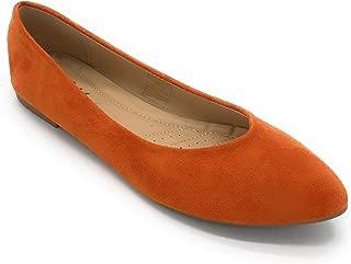 J.Mark Women Suded Pointed Toe Slip On Flats
