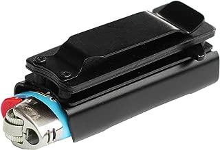 Lighter Holder with Spring Assist Tanto Knife Lighter Case (Lighter Not Included) Choose A Color!!! (Black)