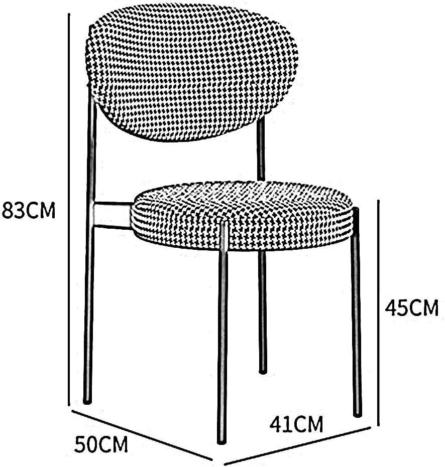 LJFYXZ Chaises Salle Manger Chaise de dossier de luxe légère d'Europe du Nord Bureau Moderne simple Concepteur de loft Hôtel Restaurant Tabouret (Color : D) A