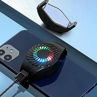 【2021版】Lubanheart スマホ用 ファン スマホ散熱器 冷却クーラー 半導体冷却 ペルチェ素子 3秒冷却 USB給電 静音小型 ゲーミング 実況専用 伸縮式クリップ iPhone/Android対応 ブラック