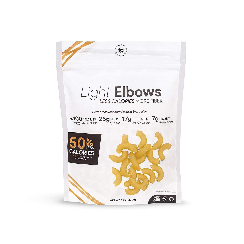 Fiber Gourmet Pasta - Light Elbow Pasta - Fiber-Rich, Low Calori