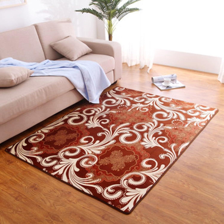 Coral velvet thick non-slip mat Living room Bedroom Bedside non-slip door mat Foot pad-F 50x80cm(20x31inch)