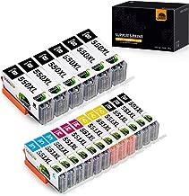 JARBO Compatibile Cartucce Canon PGI-550 XL CLI-551 XL per Canon PIXMA iP7250 MX725 MX925 iX6850 MG5550 MG5450 MG5650 MG6450 MG6650 MG6350 (6 Grande Nero,3 Piccolo Nero,3 Ciano,3 Magenta,3 Giallo)