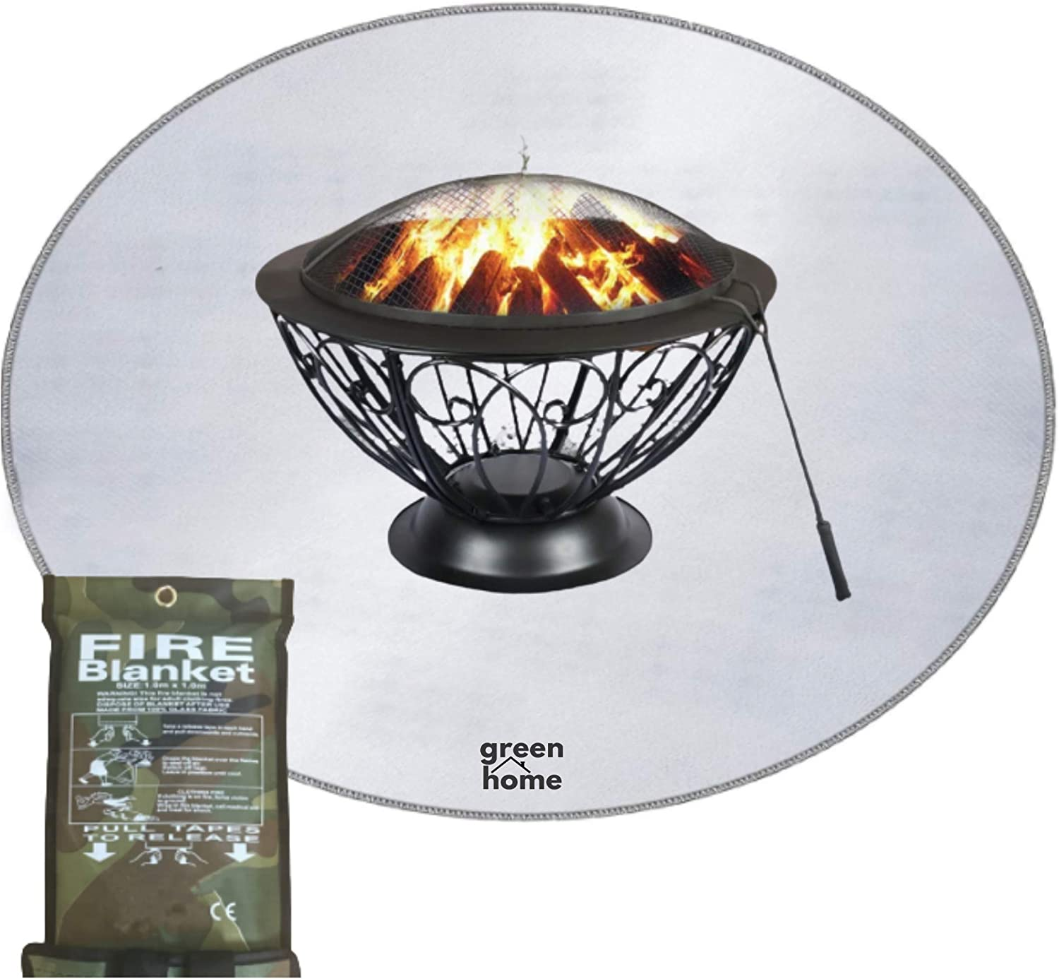 Fire Pit Mat PRO X-Large Sale SALE% OFF Blanket Free Fits Round 40
