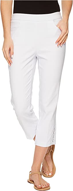 "Stretch Bengaline 22"" Capris with Eyelet Detail"