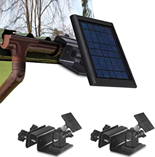 Gutter Outdoor Mount for Ring Solar Panel - Stable and Easy Install The Best Angle Wall Mount Bracket to Get Sun Exposure ...