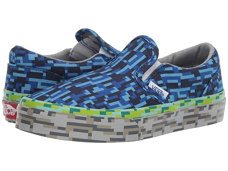 Vans Kids Classic Slip-On (Little Kid/Big Kid) ((Digi Earth) Water/Grass/Rock) Boys Shoes
