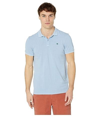Scotch & Soda Classic Garment-Dyed Pique Polo (Blue Dusk) Men