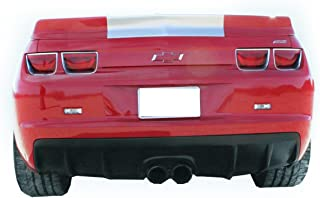 KBD Body Kits Compatible with Chevrolet Camaro 2010-2013 Zin Style 1 Piece Flexfit Polyurethane Center Exhaust Rear Diffuser. Extremely Durable, Easy Installation, Guaranteed Fitment, Made in the USA!