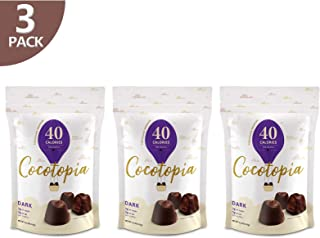 3 Pack of COCOTOPIA Chocolate Truffles   Fewer Calories   Less Fat   Less Sugar   Resealable Bag   3.3 OZ per Pouch