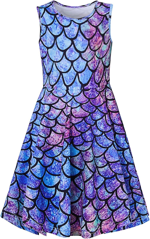 Goodstoworld Girls Brand new Sleeveless Summer Dresses Swing Mermai Casual Ranking TOP16