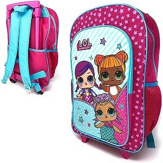 Kinder M/ädchen Rosa Hard Cover Carry on Trolley Koffer Gep/äck LOL /Überraschung