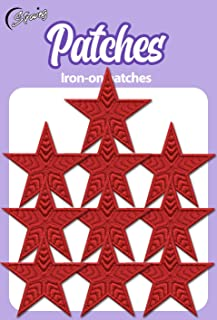 Iron On Patches - Red Star Patch 10 pcs Iron On Patch Embroidered Applique Star S-16